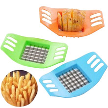 French fry cutter potato cutter slitting very convenient kitchen tool french fries cutter steel free shipping(China)