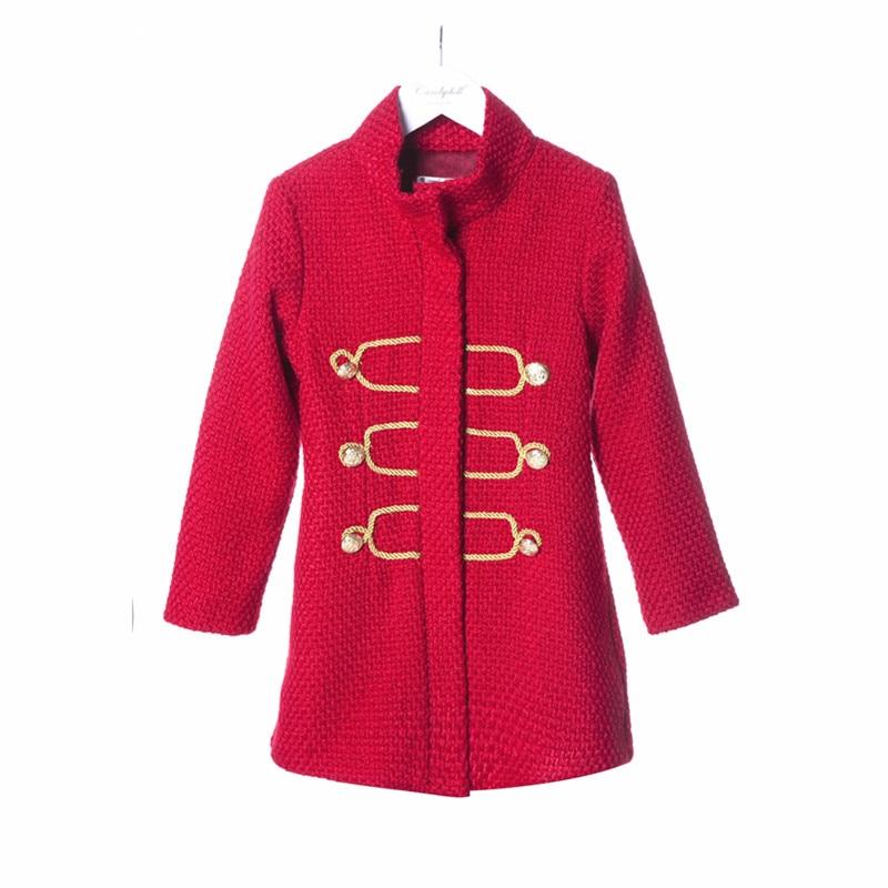 New arrival Childrens Palace style Children Retro Wind Coat Woolen coat  Girls overcoats 5-10Y<br><br>Aliexpress
