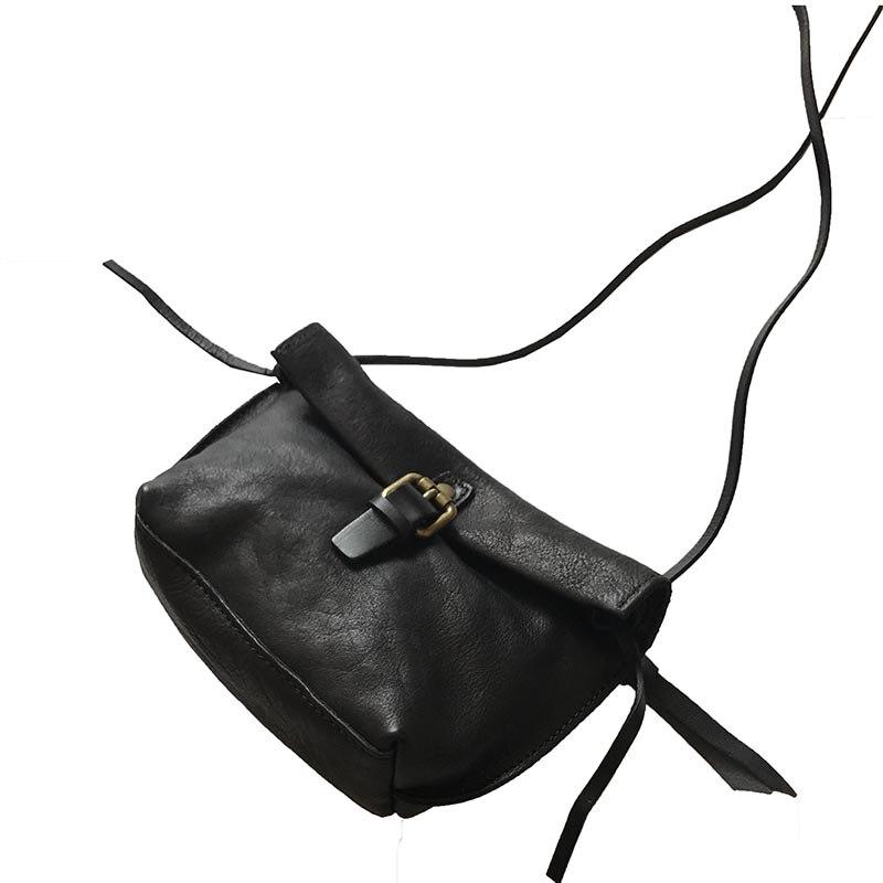 2018 women bag genuine leather retro small black  female crossbody bags<br>