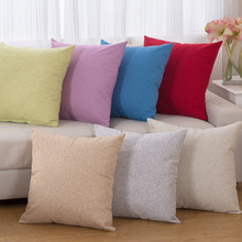 Thick Simple Pillow Covering Linen Cushion Cover Throw Seat Sofa Car Decorative Creamy Orange Yellow Gray Beige Green Red