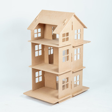 New Year Gifts Diy Doll House Miniature Wooden Building Model Dollhouse Model Brithday Gift D010