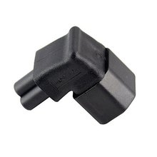 CY IEC Adapter 3 Poles Male C14 to Micky C5 90 Degree Up Angled Direction Power Extension Adapter