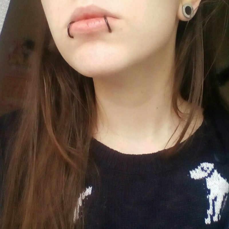 2 Piece Fashion Fake Nose Ring Goth Punk Lip Ear Nose Clip On Fake