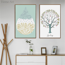Canvas Printings Wall Art Posters Home Decoration High Definition Good Quality Nordic Styles Home Art Brand No Frame Waterproof(China)
