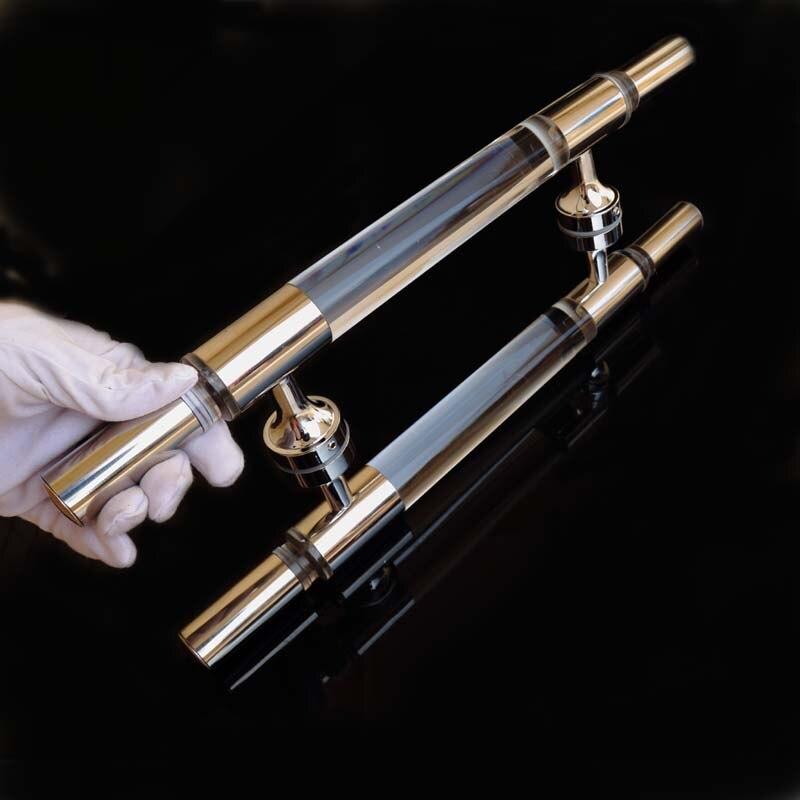 400mm modern simple fashion crystal  glass door handles , stainless steel bathroom door pulls handles<br>