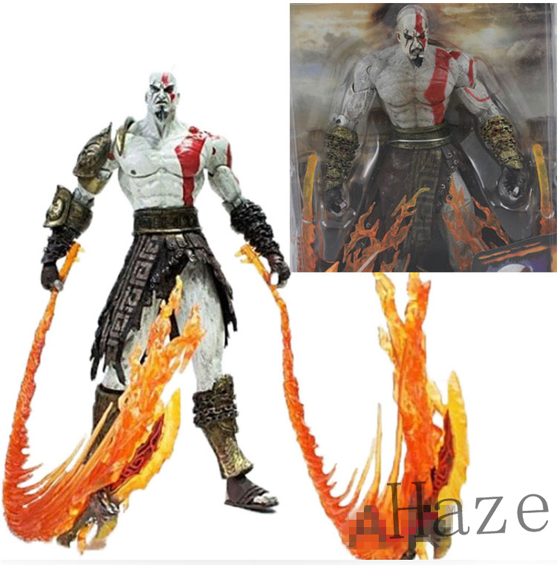 7inch NECA God of War 2 Kratos flame Action Figure movable joints in box<br><br>Aliexpress