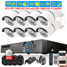 Buy 48V PoE 1080P NVR CCTV System 8pcs 2.0MP Outdoor IP Camera 36xLEDs 8CH 1080P NVR Recorder Video Security Camera Surveillance kit for $351.90 in AliExpress store