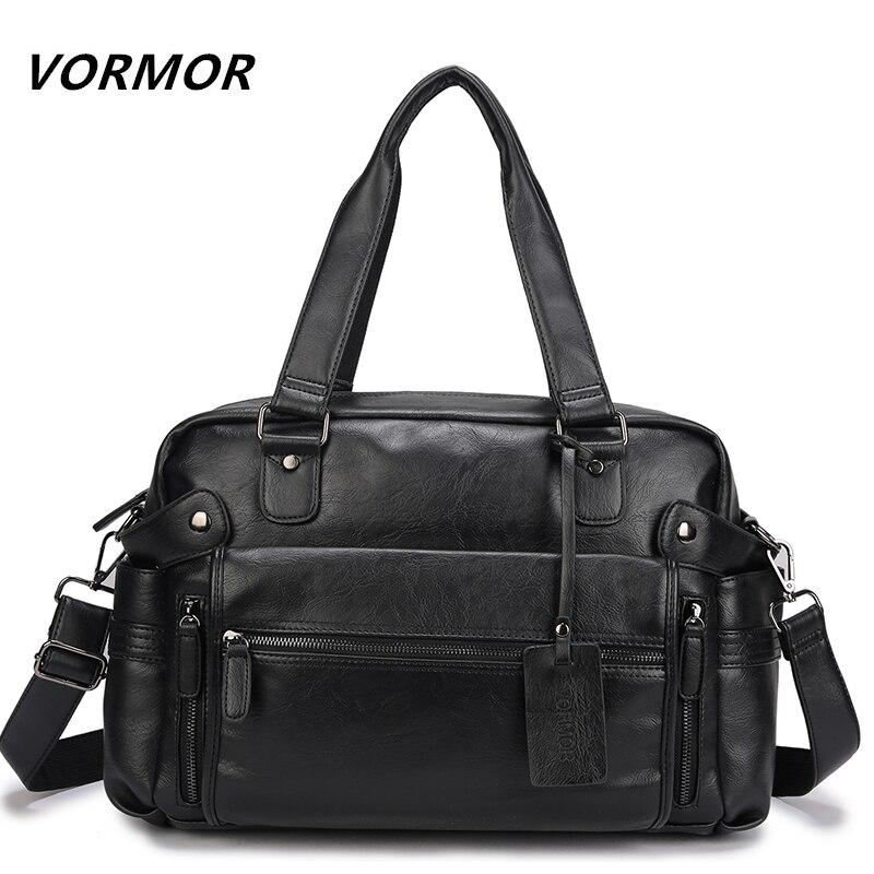 VORMOR PU Leather Bag Business Men Handbags Mens Travel Bags Laptop Briefcase Bag for Man<br>