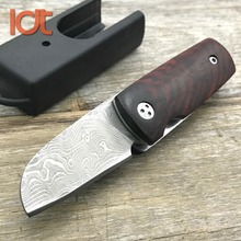 LDT Bluebird AB2 Folding Knife 100% Damascus Blade Original Wood Handle Tactical Knife Hunting Camping Knives Pocket EDC Tool
