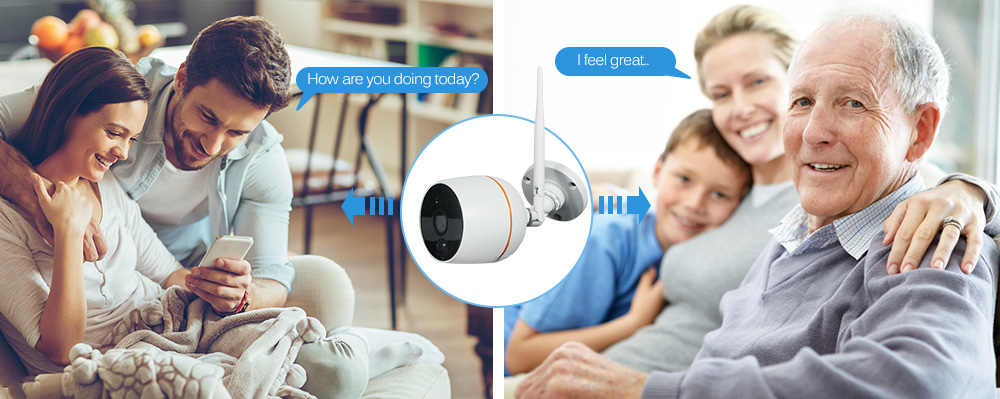 wifi ip camera audio