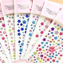 Children Makeup Beauty Stage Performance DIY Stickers Acrylic Phone Car Stickers Diamond Stickers D455(China)