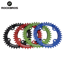 ROCKBROS Oval Round Bicycle Bike Crank Chainwheel 104BCD Wide Narrow Chain ring 32T/34T/36T/38T Crankset MTB Bike Bicycle Parts(China)