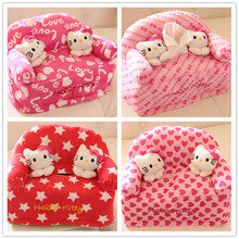 2017 Lovely Hello Kitty Cartoon Plush Sofa Napkin Box Tissue Box In Fabric Tissue Set Cover Car Paper Napkin Bag Storage Holder