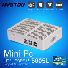 Intel CPU i3 Mini PC Core i3 5005U N3150 N3050 Fanless Micro PC Win 10 Max 2.6GHz with HDMI HTPC Gigabit Lan 8G RAM 256G SSD