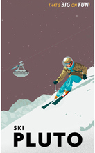 Ski Pluto Space Big Fun Sports Landscape Trip Travel Retro Vintage Poster Decorative DIY Wall Sticker Home Bar Posters Decor
