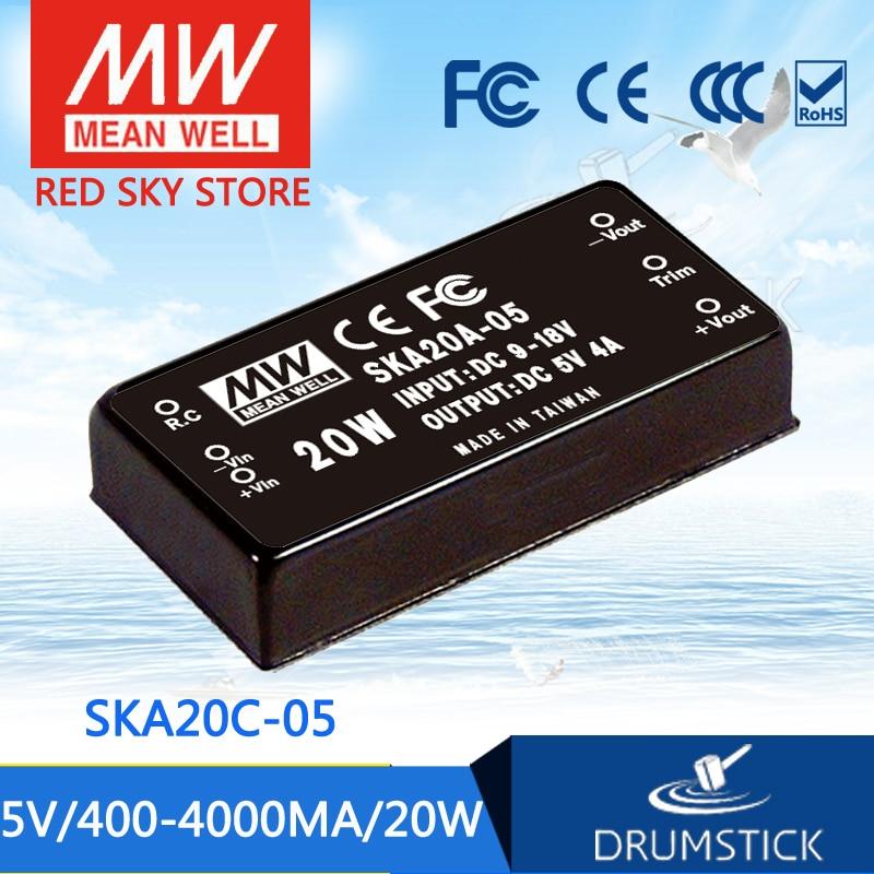 Advantages MEAN WELL SKA20C-05 5V 4000mA meanwell SKA20 5V 20W DC-DC Regulated Single Output Converter<br>