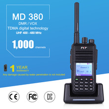 TYT MD-380 DMR 1000 Channels Mobile Radio Digital Two Way Radio UHF 400-480MHz Walkie Talkie with LCD Display Ship From Spain(China)