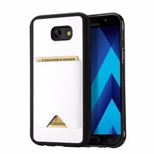 Buy Samsung A7 2017 Case Silicone TPU + Leather Back Cover Card Type Phone Protector Cases Galaxy A7 2017 Accessory Coque Capa for $8.79 in AliExpress store
