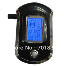 Prefessional Blue Backlight Police Digital Alcohol Tester Breath Alcohol Tester with 5pcs mouthpiece Breathalyzer(China)