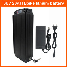 1000W Electric bike battery 36v 20ah Scooter Rear Rack battery 36v lithium battery 20ah with Tail light 30A BMS 42V 2A charger