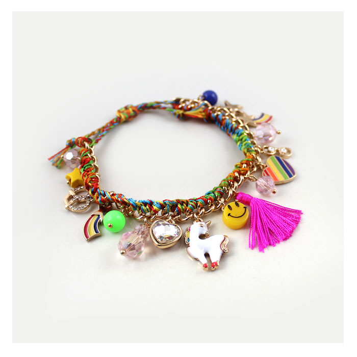 3pcs/lot Colorful Braided Rope Bracelet