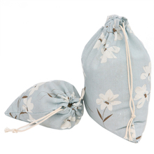 3 size Small fresh Cotton Linen Drawstring Sack storage Bag Jewelry Wedding Party Candy Gift Bag Tea storages Bag