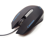 Black professional game mouse Cantanse 1200DPI wired PC mice & mouse for computer Windows & Mac free driver