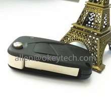 For Fiat 2 button folding car key remote shell ,Folding remote key shell 2 For Fiat