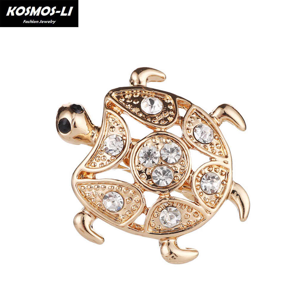 Detail Feedback Questions about Vintage Gold color Turtle Brooch Crystal  Alloy Brooch Scarf Collar Suit Sweater Clips Tortoise Animal Pins Kids  Jewelry on ... 09c53e9e6d21