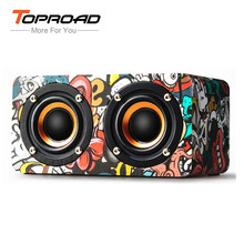 TOPROAD M5 Bluetooth Speaker Wood Wireless Subwoofer Stereo Speakers Soundbar FM Radio TF Line in caixa de som for xiaomi iPhone(China)