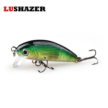 LUSHAZER Minnow Fishing Lures minnow lure bait 4.5cm 4.8g carp fishing isca artificial bass lure fishing tackle Hard Bait