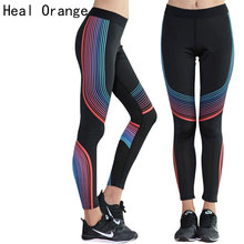 HEAL ORANGE Sex Elastic Waist Stretched Sports Pants Gym Clothes Spandex Running Tights Women Sports Leggings Fitness Yoga Pants