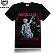 Supreme Real Iron Maiden AC DC Metallica The Beatles Nirvana Guns N Roses Rock Black Printed Madrid Men's T Shirt Short Sleeve