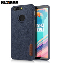 NKOBEE Oneplus 5T Case Cotton Fabric Cover For One Plus 5T Cases Soft Silicon TPU Back Cover Funda For Oneplus 5 T Cell Phone(China)