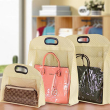 200pcs/lot Non-woven PVC Handbags Dust Protective Bags Household Closet Tote Bag Storage Display Organizer Pouch ZA4505(China)
