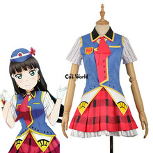 Love Live Sunshine Aqours Happy Party Train Nyamazing Kurosawa Dia Uniform Dress Coat Shirt Outfit Anime Cosplay Costumes