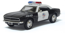 Brand New 1967 Chevrolet Camaro Z/28 American Police car Classic Boys Fashion Vintage 1/37 scale Pull-Back Alloy model toy cars