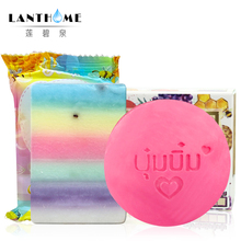 Rainbow Bar Soap Thailand OMO Soap&Handmade Bumebime Soap Fruits Extract Soap Whitening Lighten Dark Spots Skin Care Shampoo(China)