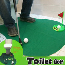 Mini Golf Set Toilet Green Novelty Game Hig Quality Potty Putter Toilet Golf Game Toy For Men and Women Practical Relax toys(China)