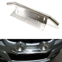 "BBQ@FUKA Black Car Front Bumper 23"" Bull Bar Working LED Lights License Plate Braket Holder fit for offroad/SUV/Pickup"