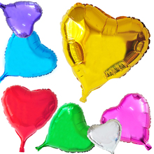 Buy 5pcs 18 inch Event Balloons Heart Shaped Foil Balloon Large love wedding Happy Birthday Party Decoration Globos Air Ballons for $1.97 in AliExpress store