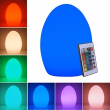 Hot Led IR Remote control colorful eggs rechargeable bar table lamp KTV night club light dimming color LED night light