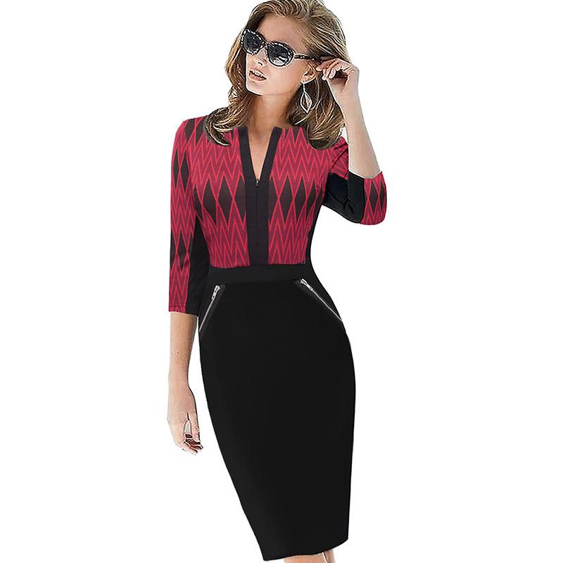 Plus Size Elegant Bodycon Pencil dress 8