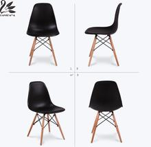 LANSKAYA 4 Pieces of Set Simple Fashion Creative Leisure Coffee Design Stylish Contemporary Plastic Chair Dining Chairs