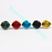 16mm Metal Oxidized Push Button Switch flat round 1NO auto reset press button screw terminal momentary red black blue 16PY,F.KL