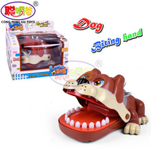 CongMingGu Large Bulldog Crocodile Shark Mouth Dentist Bite Finger Game Funny Novelty Gag Toy for Kids Children Play Fun(China)