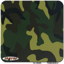 Camo Water Transfer Printing Width 1M GW2939-3 Green Army Camo Hydrographic Films Water Transfer Film