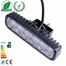 18W Flood LED Work Light Driving Light Bar car-styling For 4x4 Off road SUV Car Truck Trailer Tractor UTV Vehicle Car Light(China)