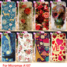 Soft TPU Phone Cases For Micromax Canvas Fire 4 A107 Flowers Patterns Paint Cell Cover Housings Bags Sheaths Skins Shells Hoods