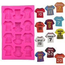 Football clothing cooking tool Christmas wedding Mold Silicone baking tools Fondant Candy Cake Decoration Resin MK2097